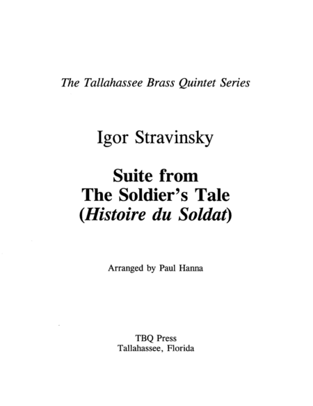 Suite from The Soldier's Tale (Histoire du Soldat)