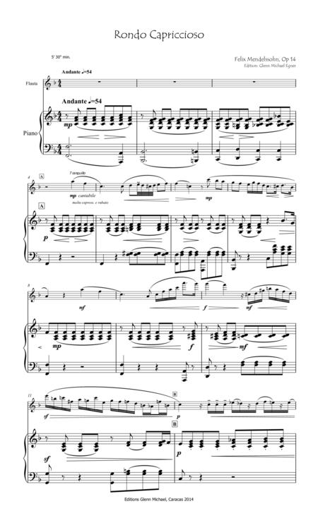 Mendelssohn, Rondo Capriccioso for flute & piano