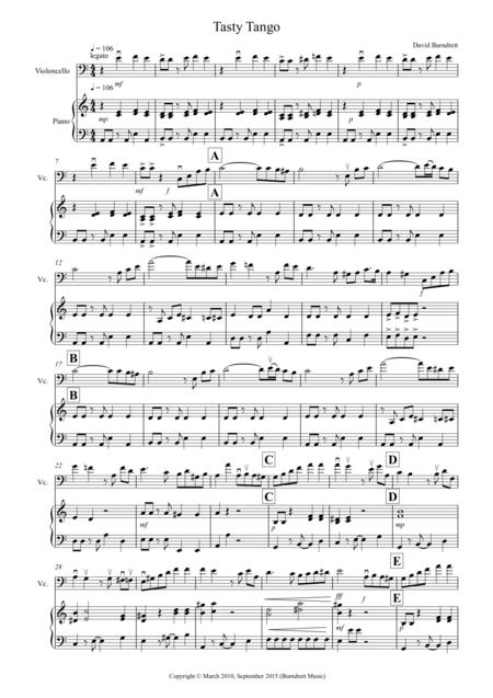 Tasty Tango for Cello and Piano