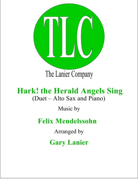HARK! THE HERALD ANGELS SING (Duet – Alto Sax and Piano/Score and Parts)