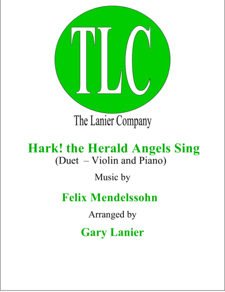 HARK! THE HERALD ANGELS SING (Duet – Violin and Piano/Score and Parts)
