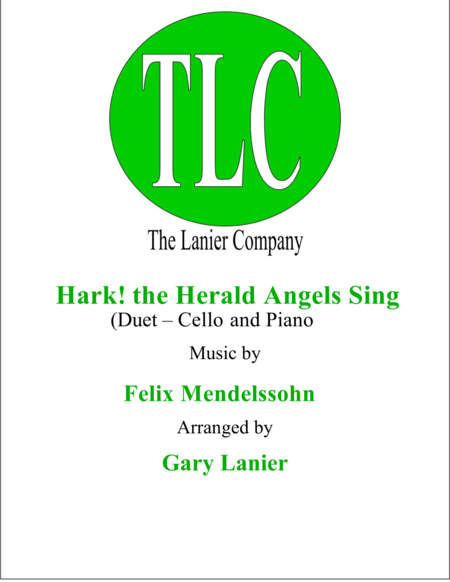 HARK! THE HERALD ANGELS SING (Duet – Cello and Piano/Score and Parts)