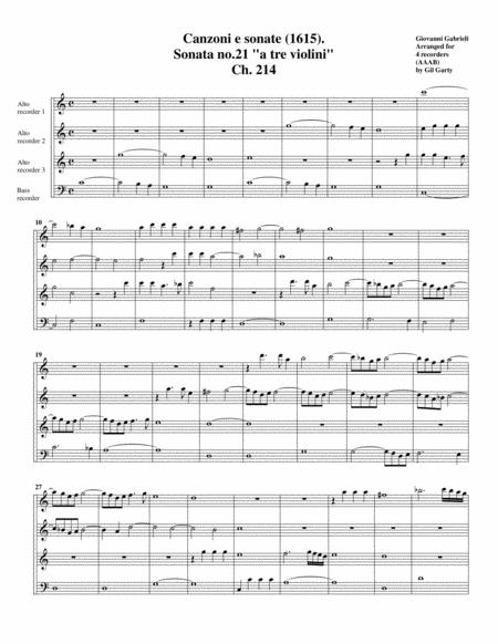 Sonata a tre violini (1615)