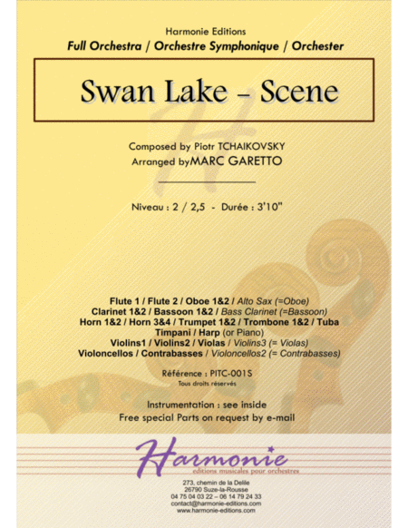 Swan Lake - Le Lac des Cygnes - Scene - Piotr Ilitch Tchaïkovski // Full Orchestra