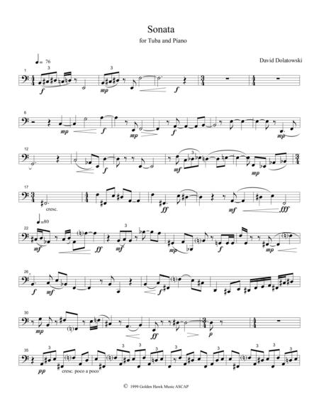 Sonata for Tuba and Piano - Tuba Part