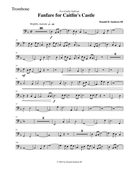 Fanfare for Caitlin's Castle--Trombone