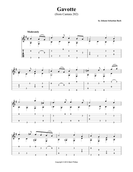Gavotte (from Cantata 202)