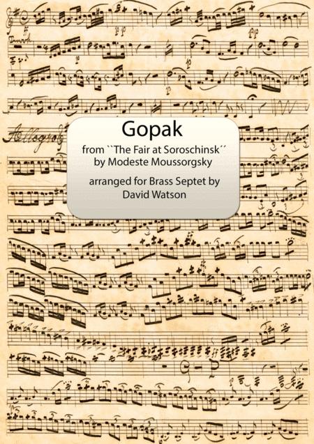 Gopak from ``The Fair at Soroschinsk´´