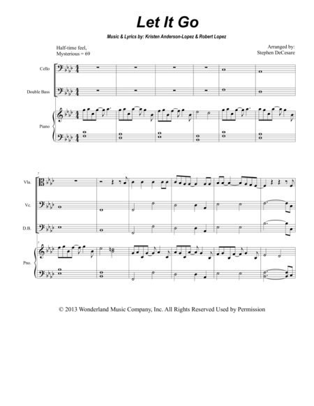 Let It Go (from FROZEN) (for String Quintet)