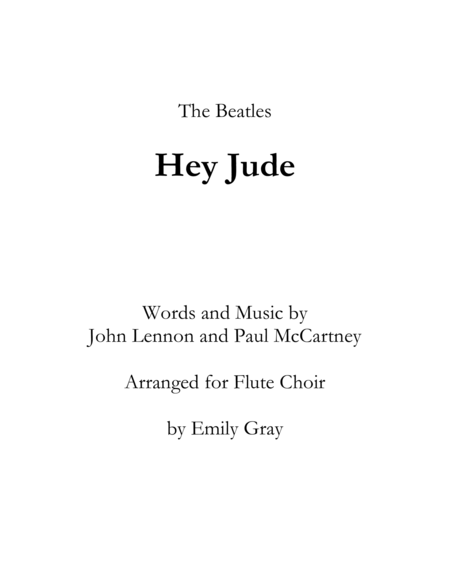 Hey Jude (Flute Choir)