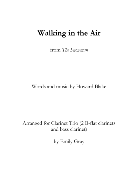 Walking in the Air (Clarinet Trio)