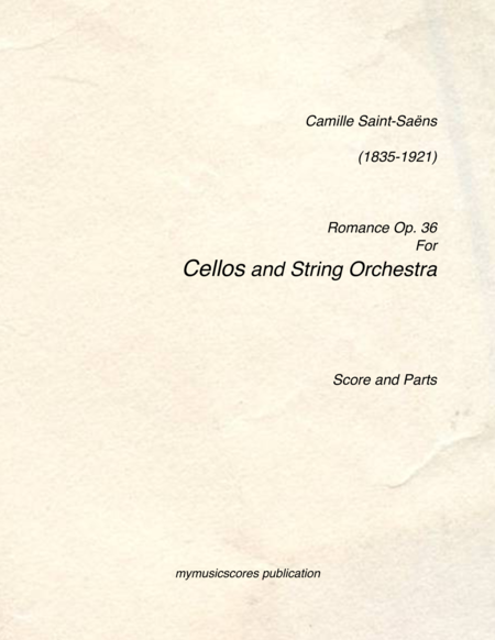Romance Op.36 for Cello and String Orchestra