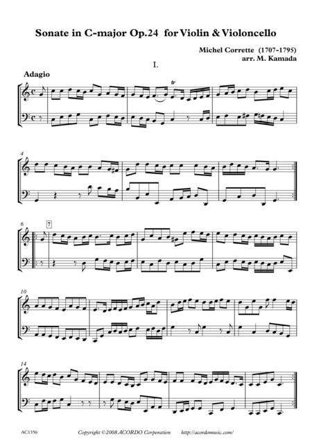 Sonate in C-major Op.24 for Violin & Violoncello