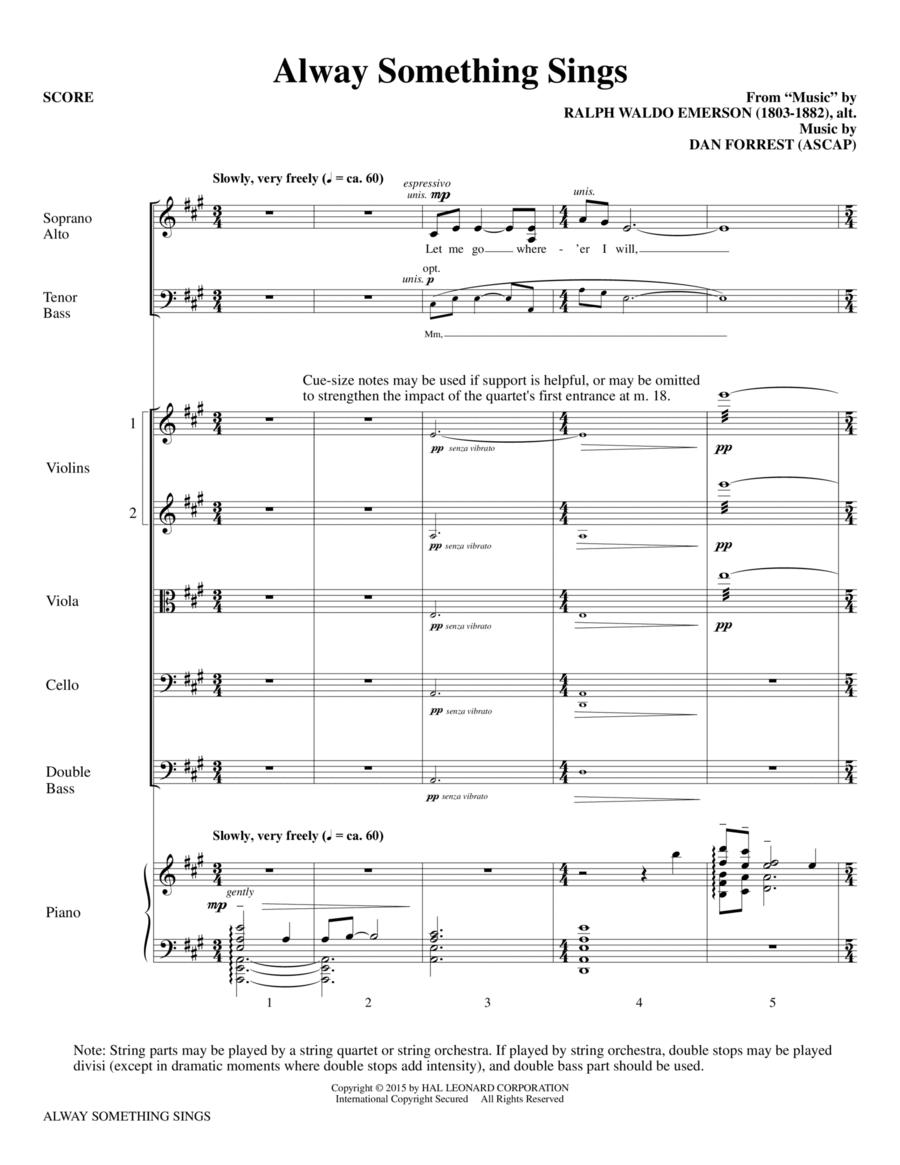 Alway Something Sings - Full Score