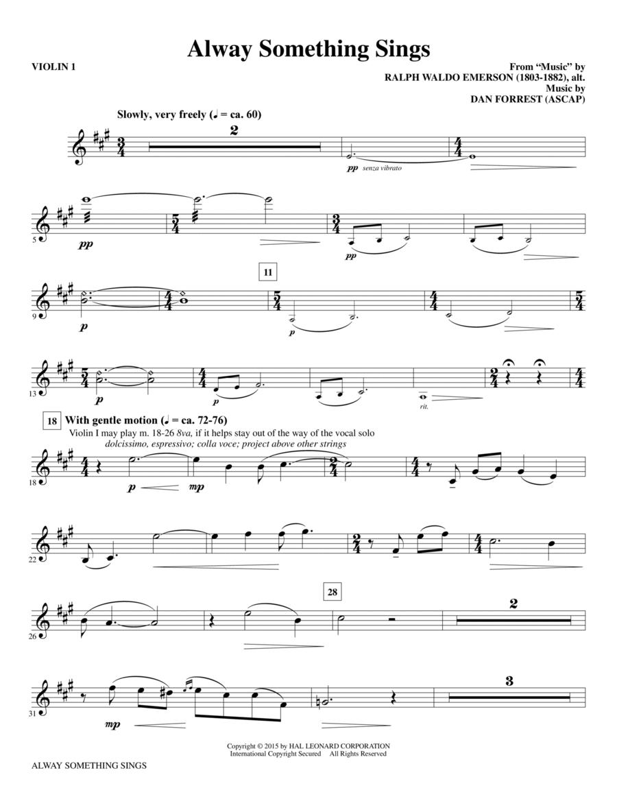 Alway Something Sings - Violin 1