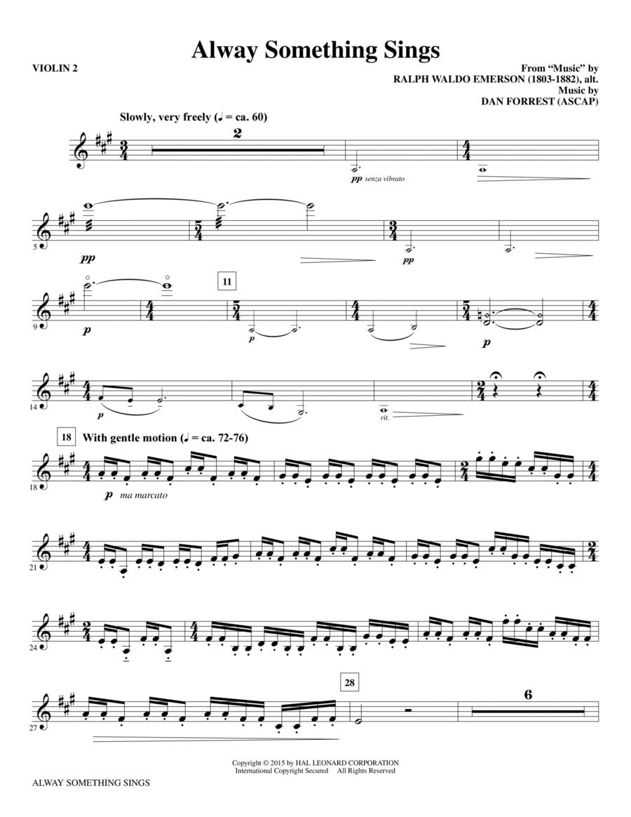 Alway Something Sings - Violin 2