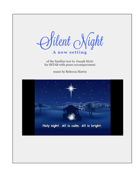 Silent Night (a new setting)