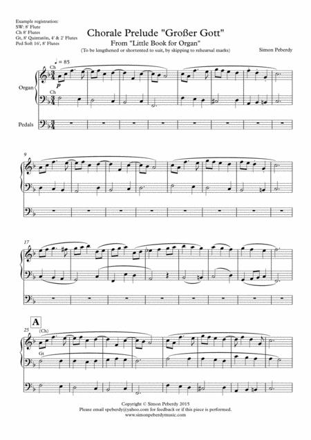 Organ Chorale Prelude Großer Gott, wir loben dich,