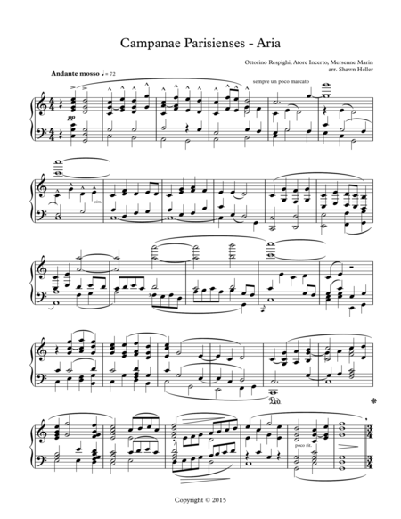 Campanae Parisienses & Aria from Ancient Airs & Dances, Suite #2, Piano Solo arr. by Shawn Heller