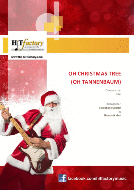 Oh Christmas tree ( Oh Tannenbaum )  - Funky  - Saxophone Quartet