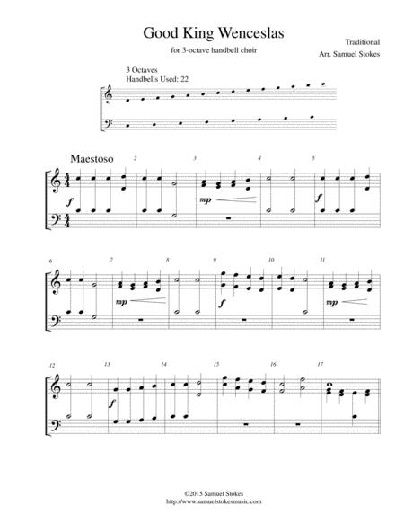 Good King Wenceslas - for 3 octave handbell choir