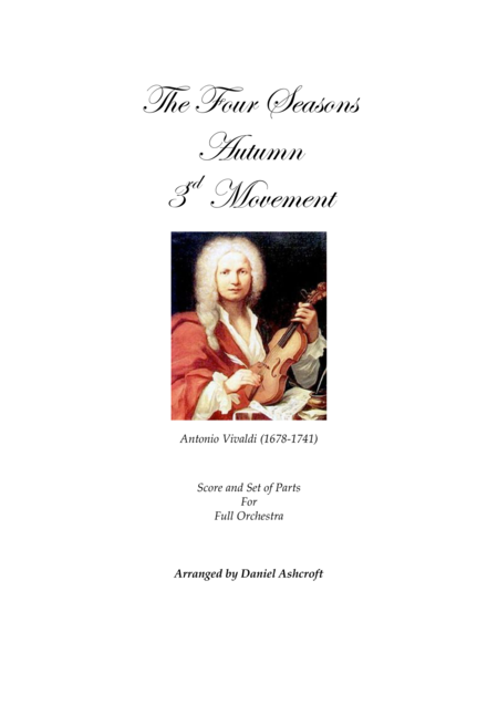 Vivaldi's Autumn 3rd Movement - Score and Parts