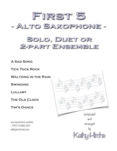 First5 - Alto Saxophone - Solo, Duet or 2-part Ensemble
