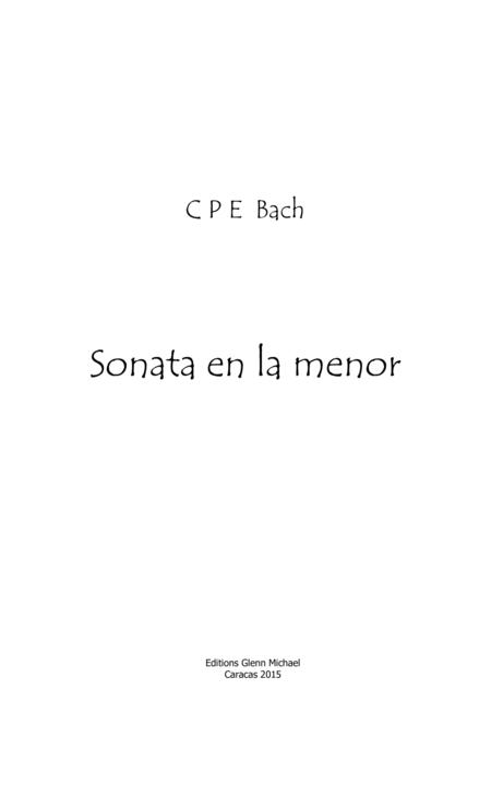 C.P.E. Bach Sonata for solo flute in A