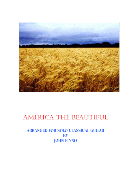America the Beautiful for solo classical guitar