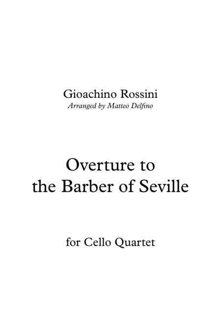 Overture to the Barber of Seville (Cello Quartet)