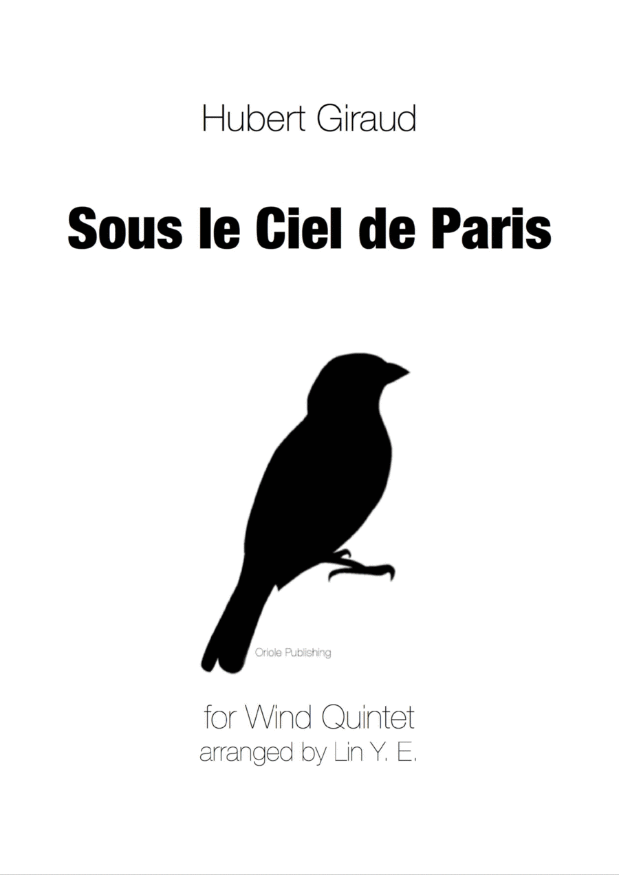Giraud - Sous le Ciel de Paris for Wind Quintet