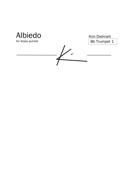 Diehnelt: Albiedo for brass quintet (Parts)