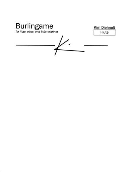 Diehnelt: Burlingame for wind trio (Parts)