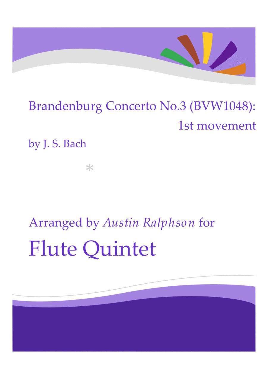 Brandenburg Concerto No.3, 1st movement - flute quintet