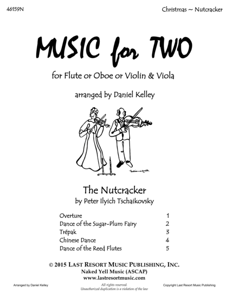 The Nutcracker - Duet - for Flute or Oboe or Violin & Viola - Music for Two