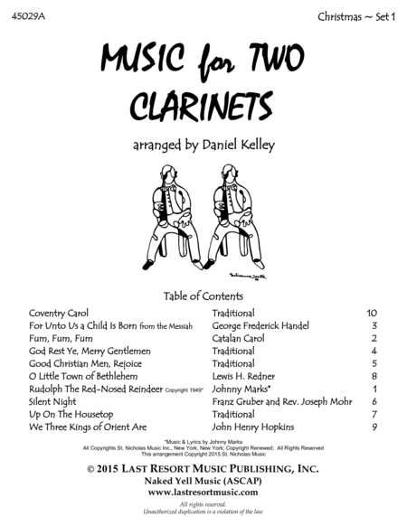 Christmas Duets for Clarinet - Set 1 - Music for Two Clarinets