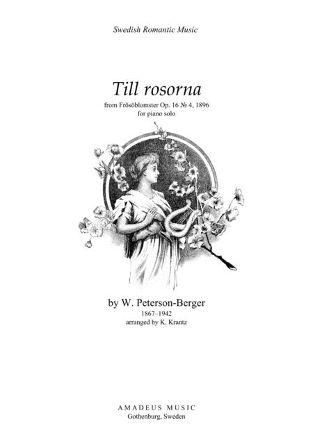 Till rosorna for piano solo
