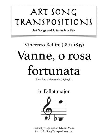 Vanne, o rosa fortunata (E-flat major)
