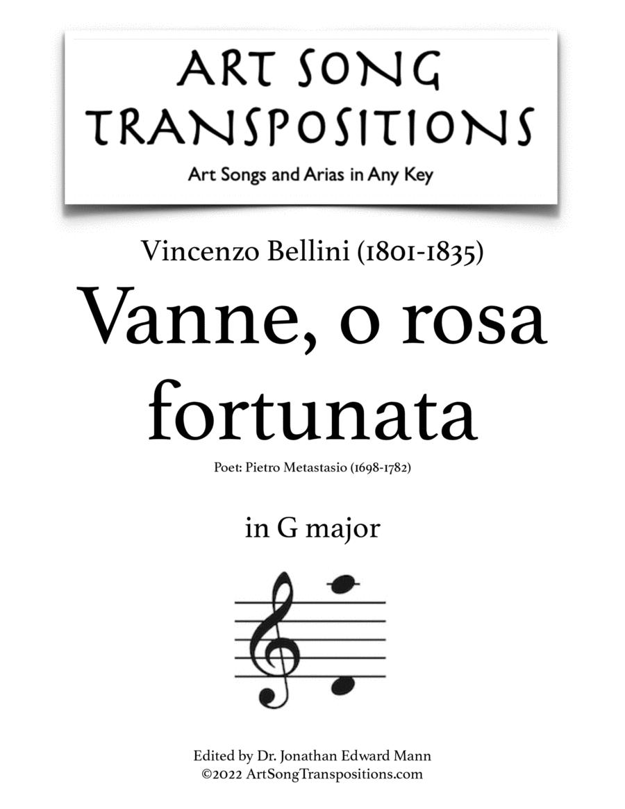 Vanne, o rosa fortunata (in 7 keys)