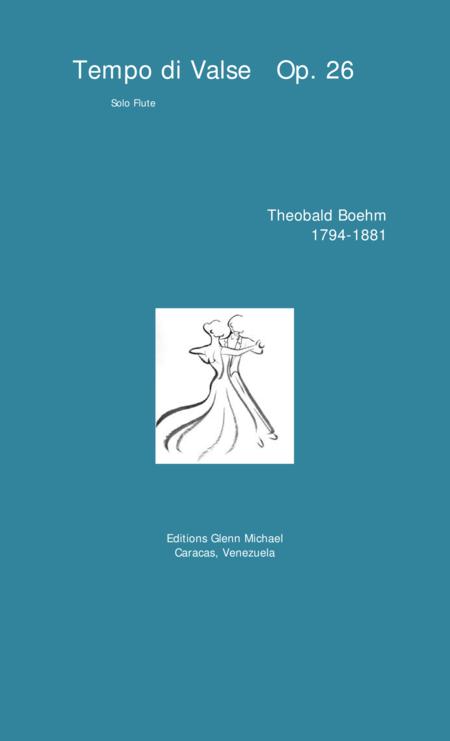 Tempo di Valse   Op. 26 for solo flute
