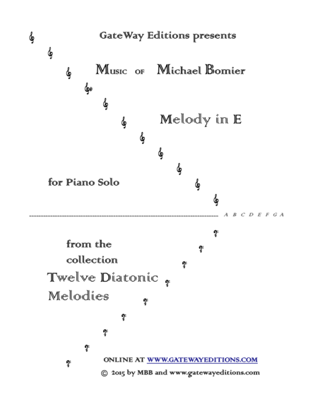 Melody in E from 12 Diatonic Melodies