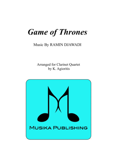 Game of Thrones - for Clarinet Quartet