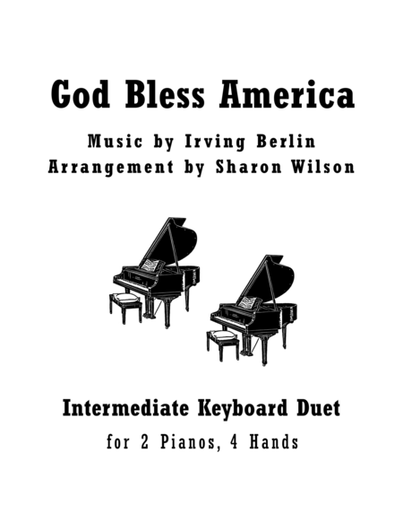 God Bless America (2 Pianos, 4 Hands Duet)