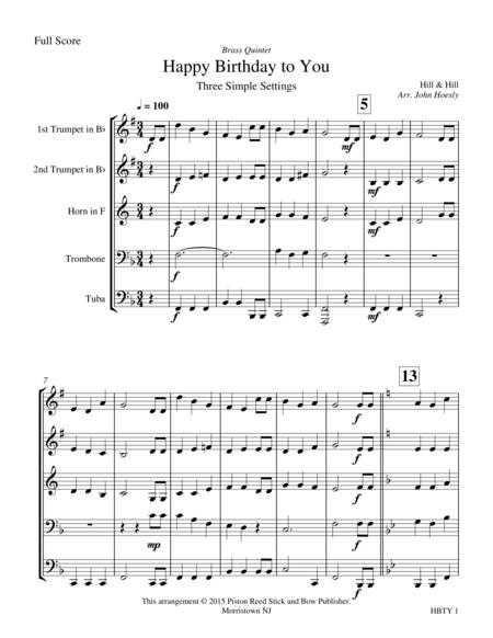 Happy Birthday- brass quintet