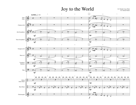 Joy to the World - for early intermediate band
