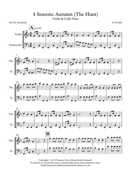 4 Seasons: Autumn (The Hunt) Violin & Cello
