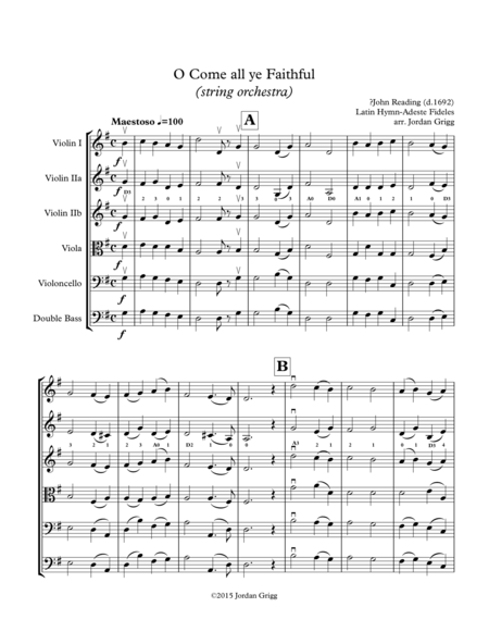 O Come all ye Faithful (string orchestra)