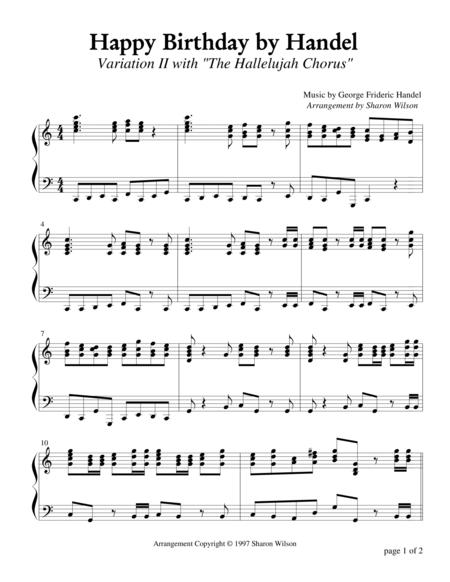 Happy Birthday by Handel, Variation II (Piano Solo)