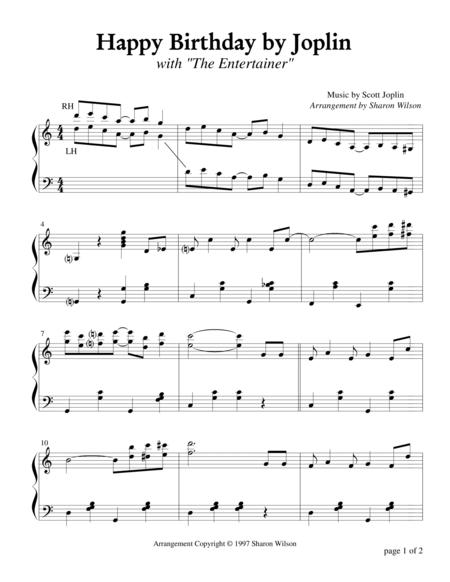 Happy Birthday by Joplin (Piano Solo)