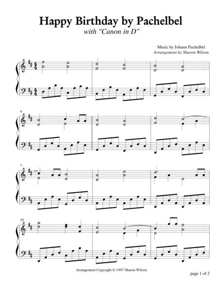 Happy Birthday by Pachelbel (Piano Solo)